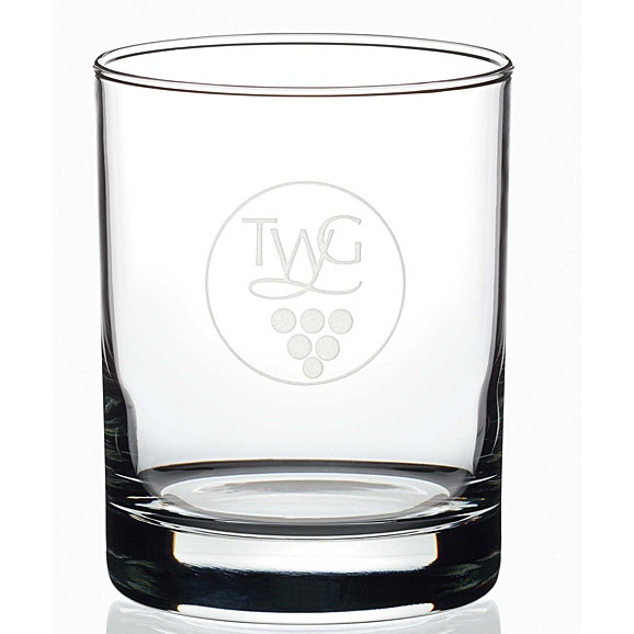 Norwood | Double Old-Fashioned Glass with Deep Etch Imprint - Set of 4