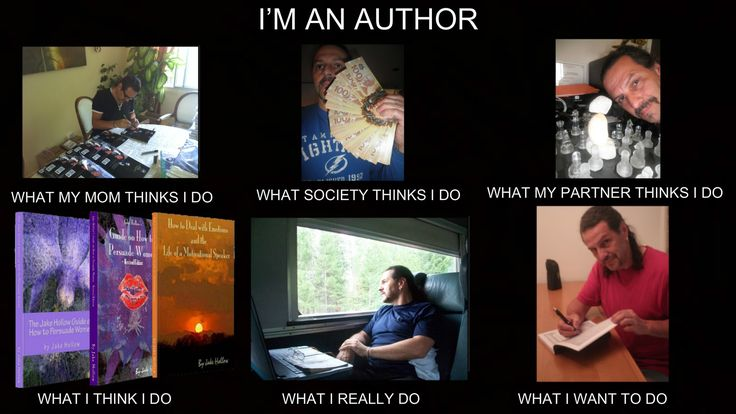 I'M AN AUTHOR - WHAT MY MOM THINKS I DO - WHAT SOCIETY THINKS I DO - WHAT MY PARTNER THINKS I DO - WHAT I THINK I DO - WHAT I REALLY DO - WHAT I WANT TO DO