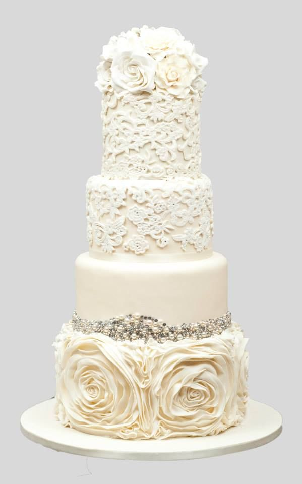 Featured Wedding Cake: Cookie Couture; Chic Daily Wedding Cake Ideas (New!). To see more: http://www.modwedding.com/2014/07/09/chic-wedding-cake-ideas/ #wedding #weddings #wedding_cake Featured Wedding Cake: Cookie Couture;