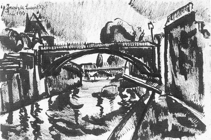 Fájl:Nemes Lampérth József painter A bridge over River Seine 1913.jpg