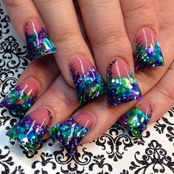 96 best Duck Feet, Flare, Fan Nails images on Pinterest | Acrylic ...