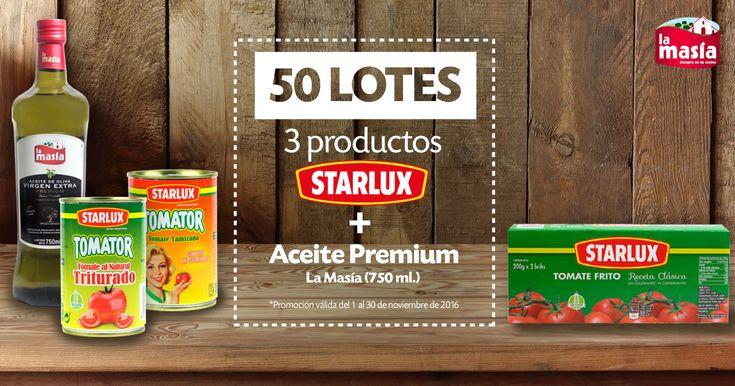 ¡Gana un LOTE de productos Starlux & La Masía!