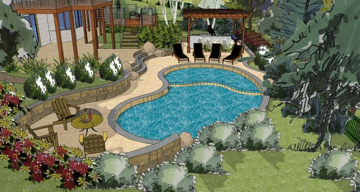 11 best videos landscapes and gardens images on for Pool plans online
