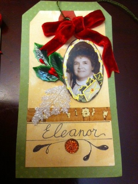 Memorial card for my mother - to hang on my Christmas tree