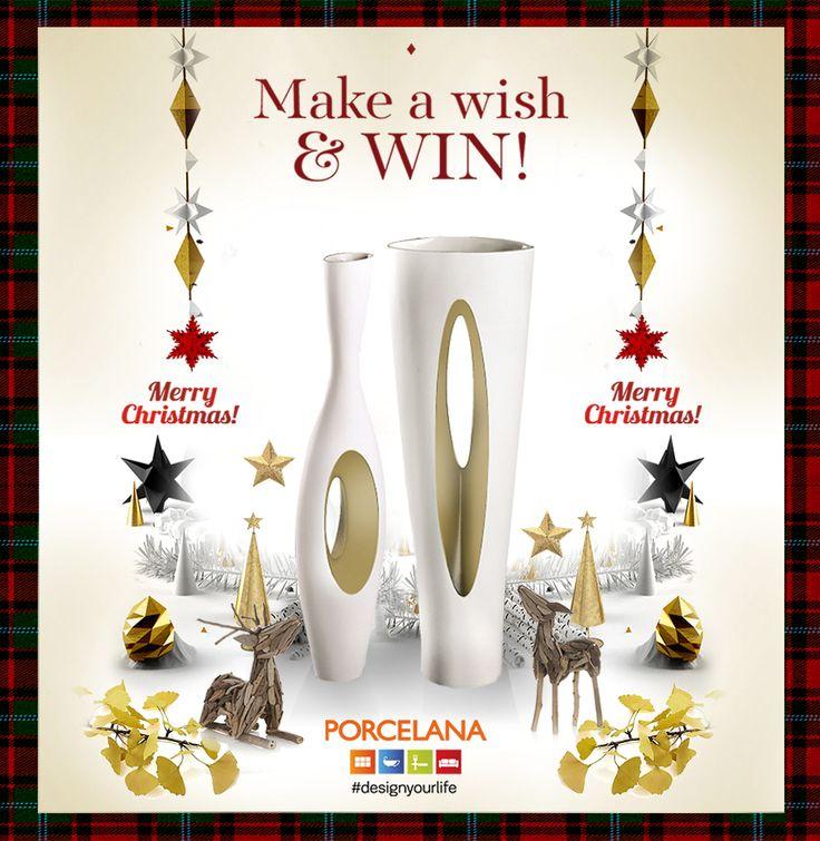 #MakeAWish & #Win! Μπείτε στην κλήρωση της Porcelana εδώ: http://on.fb.me/1AawHgz  και Κερδίστε τα 2 υπέροχα επιχρυσωμένα διακοσμητικά «Ellipsis» από πορσελάνη, του Iταλικού οίκου Fos! Συμμετέχετε στο #Xmas #Contest κάνοντας #Like στo post και στη σελίδα μας στο Facebook & #comment με την καλύτερη ευχή σας για το #2015! Διάρκεια διαγωνισμού 17 έως και 28 Δεκεμβρίου #GoodLuck May your #Xmas Wishes come true!