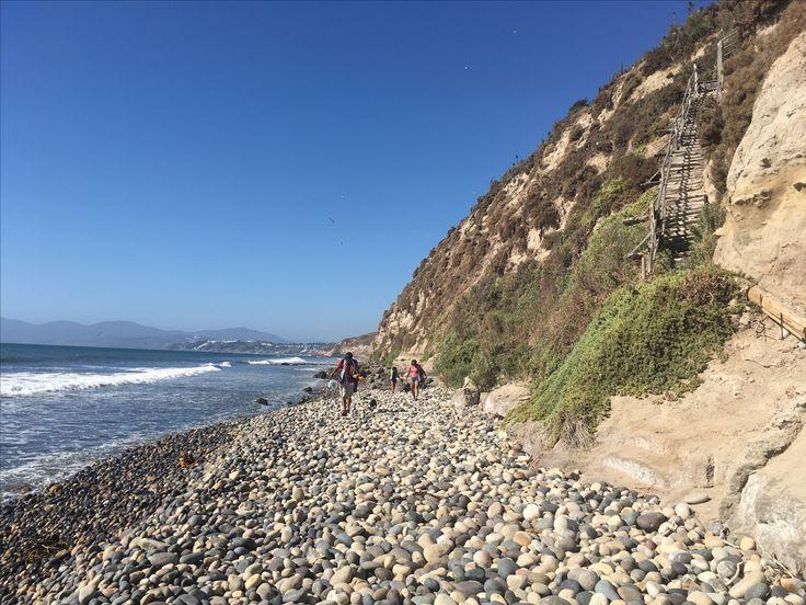 Playa de las piedras cantoras Costa región de Valparaíso Chile