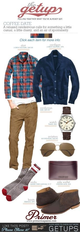 The Getup: Coffee Date | Primer my-style Too butch for work? I love the layers, tho.