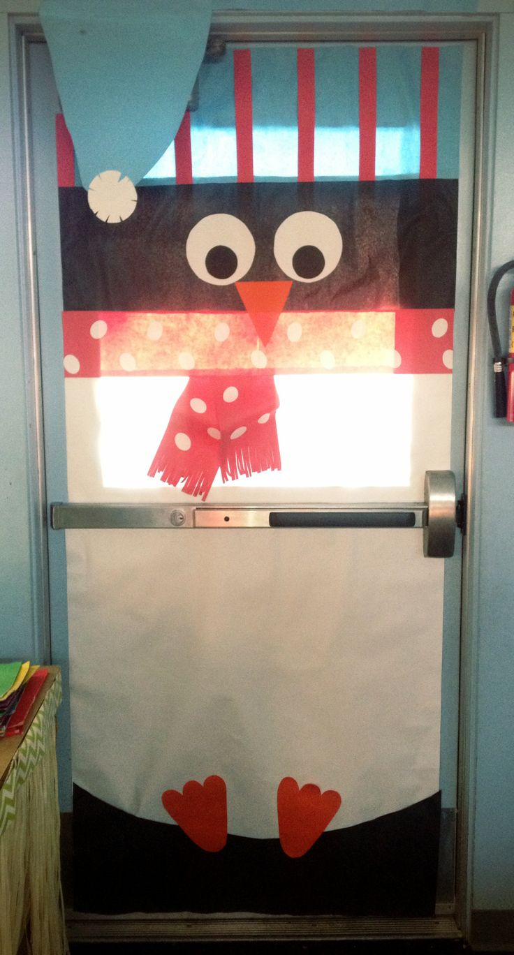 How did you decorate your classroom door this winter?