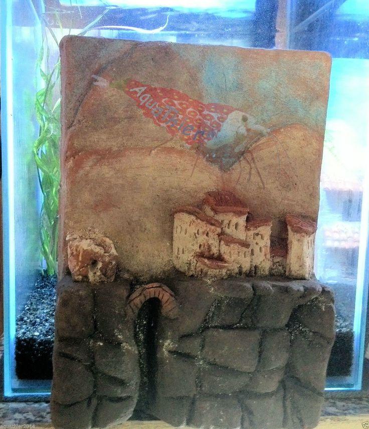 Rückwand aus Ton Nano 3D Stadt unter Wasser Mehrfarbig Aquarium Natürlich/Echt   eBay