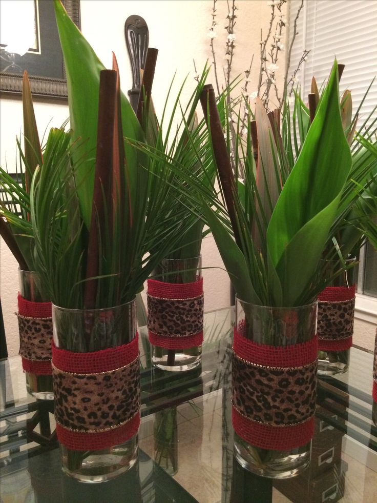 Centerpieces for safari themed party