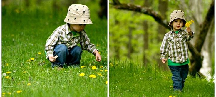 """I love our little man so much! I cherish every dandelion and that little voice saying words like, """"lellow""""."""