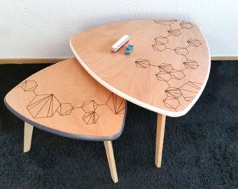 Tavolini Tavoli Tavolini vicino scandinavo di ChouetteFabrique