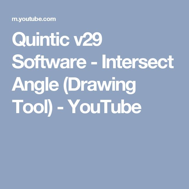 Quintic v29 Software - Intersect Angle (Drawing Tool) - YouTube