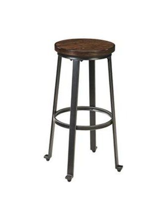 Ashley Furniture Signature Design Challiman Tall Stool, Rustic Brown, Set of 2, Pub Height ❤ Ashley Furniture