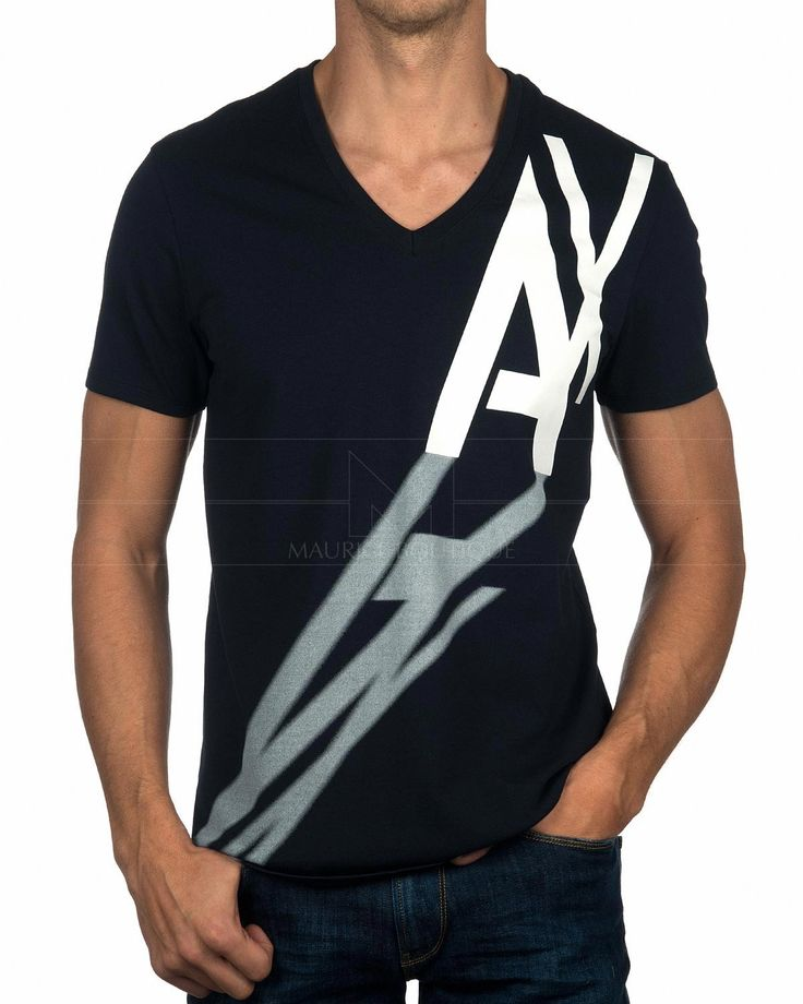 Camiseta ARMANI EXCHANGE ® Negra Pico   ENVÍO GRATUITO