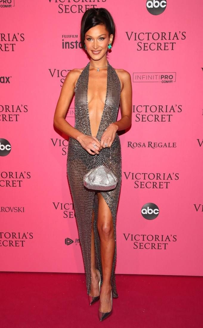 575e12b0b8 Bella Hadid from 2018 Victoria s Secret Fashion Show After-Party  Red  Carpet Fashion