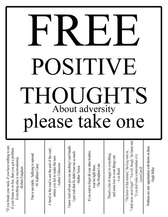 Quotes Positive Thinking Printable Quotesgram
