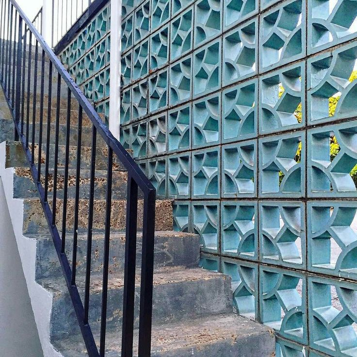 """Have you heard our latest podcast episode with @midcenturymemphis? . From one of our favorite feeds: """"Some of that beautiful blue ceramic-coated breeze block from the mysterious former Sammons-Pennington jukebox location mentioned on the wonderful podcast of @memphistypehistory by girl geniuses @dizzycaitlin & @rlwphillips  Take a listen this weekend and learn more about Memphis's Mad Men-esque history. Link in bio  -  @midcenturymemphis"""