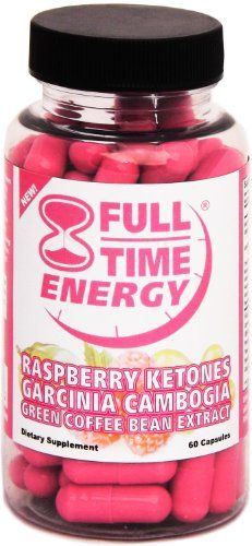 Full-Time Energy Super Pill with Raspberry Ketones Garcinia Cambogia Green Coffee Bean Extract Fat Burners – Extreme Diet Pills – The Best Weight Loss Supplements That Works Fast for Women and Men