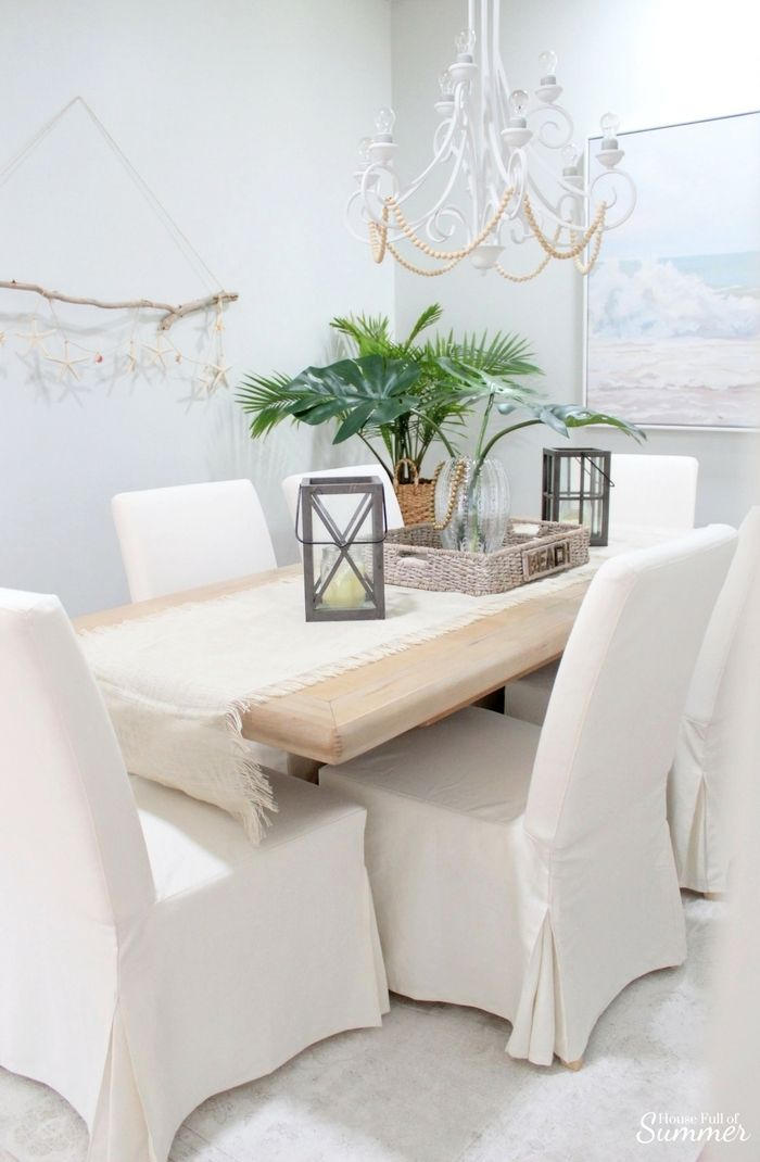 Why I Love My White Slipcovered Dining Chairs Ikea Dining Room