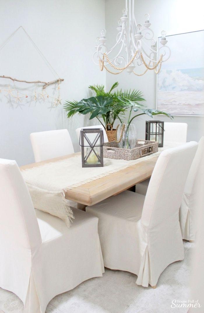 Astonishing Why I Love My White Slipcovered Dining Chairs Coastal Machost Co Dining Chair Design Ideas Machostcouk