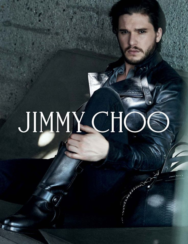 Jimmy Choo Fall 2014–Additional images have emerged from actor Kit Harington's fall/winter 2014 campaign for Jimmy Choo. In the latest round, the 'Game of Thrones' actor is photographed by Peter Lindbergh, modeling the label's leather boots and accessories. For one striking image, Harington dons a a crisp modern white shirt with a slim black blazer. …