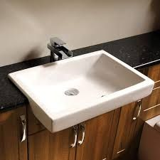Image result for bathroom semi recessed basin