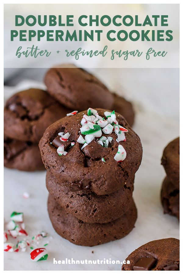 Healthier Double Chocolate Peppermint Cookies Recipe Healthy