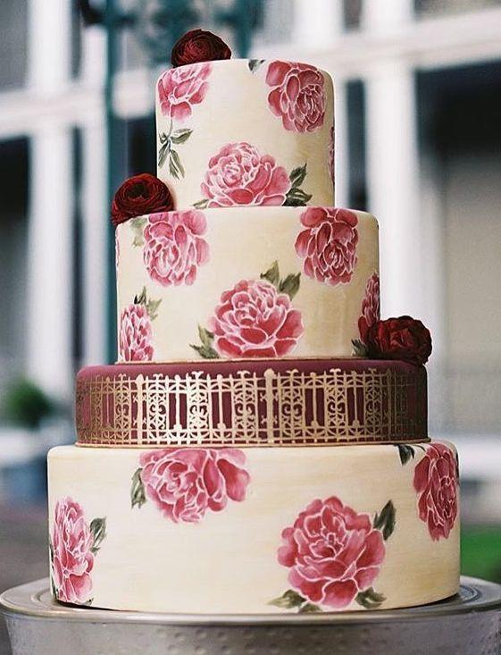 Wedding cake idea; Featured Photographer: GK Photography, Featured Cake…