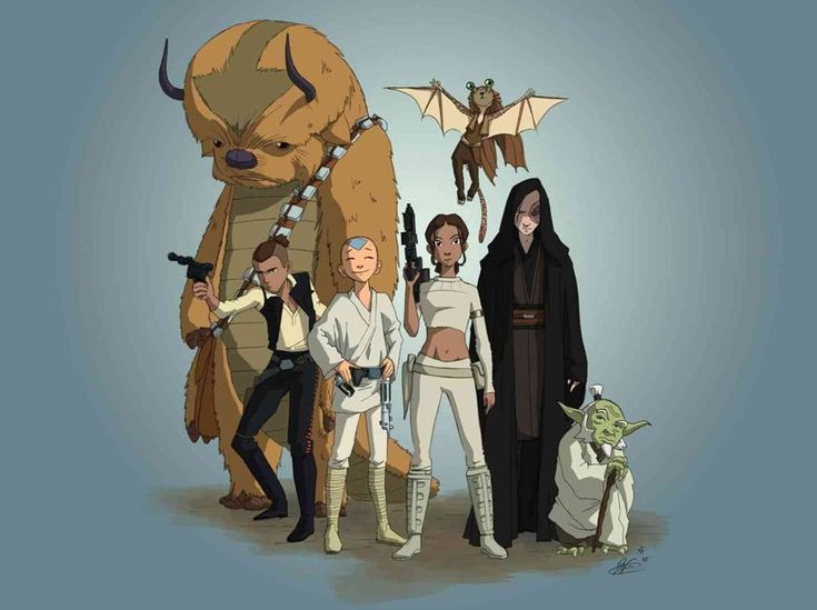 Star Wars meets Avatar. Holy cow this is EPIC!Geek, Nerd, Avatar Wars, Awesome, Funny, Star Wars, Stars Wars, The Last Airbender, Starwars