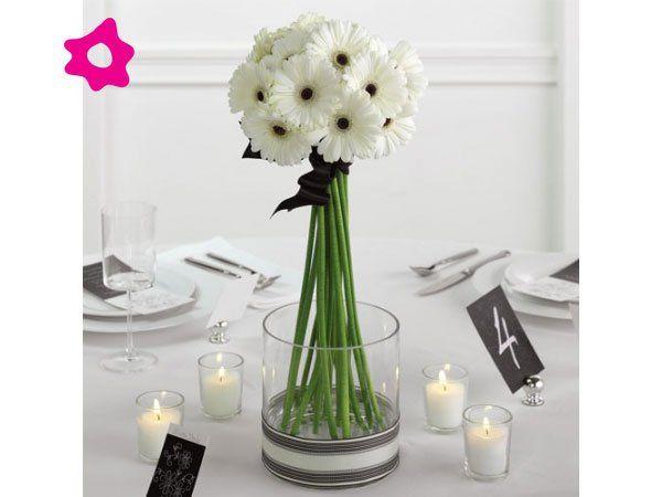 17 mejores ideas sobre centro de mesa de gerbera en for Centros de mesa para bodas sencillos y economicos