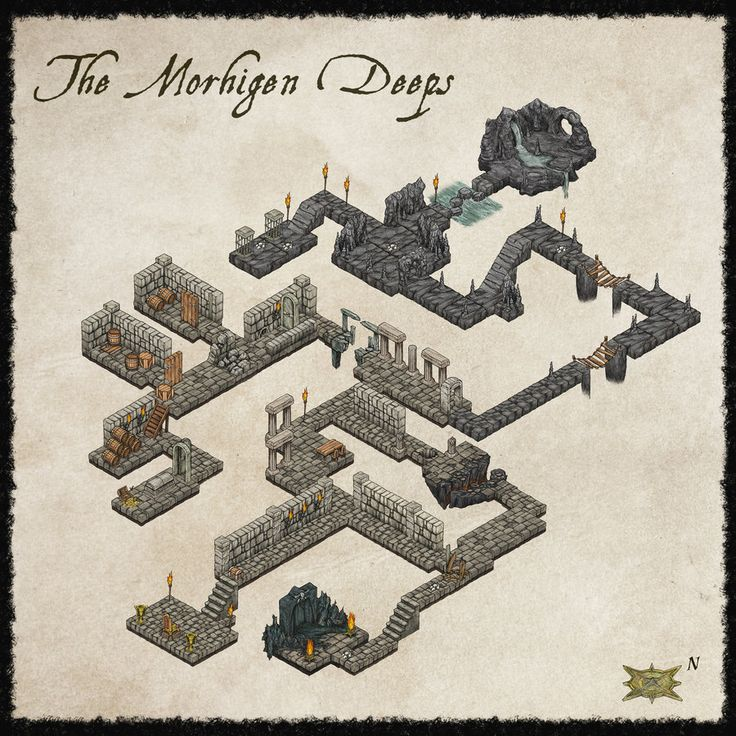 how to draw dungeon maps