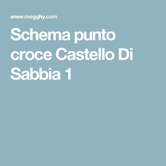 Schema punto croce Castello Di Sabbia 1