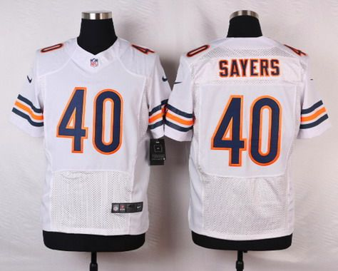 ... Chicago Bears 40 Gale Sayers White Retired Player NFL Nike Elite Jersey  ... 68b25d818