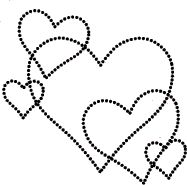 5109E - dotted heart bg: Impress Rubber Stamps