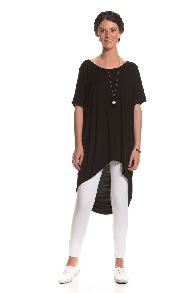 Brave And True Banks Top - Charcoal