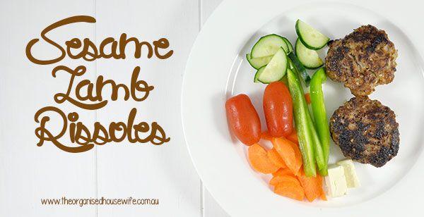 {The-Organised-Housewife}-Sesame-Lamb-Rissoles