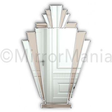Bronze Mirror & Silver Trim