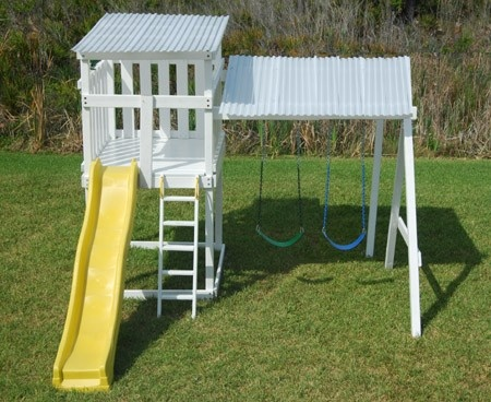 I Like This Pre Fab Playhouse Swingset By Metroplay Kids