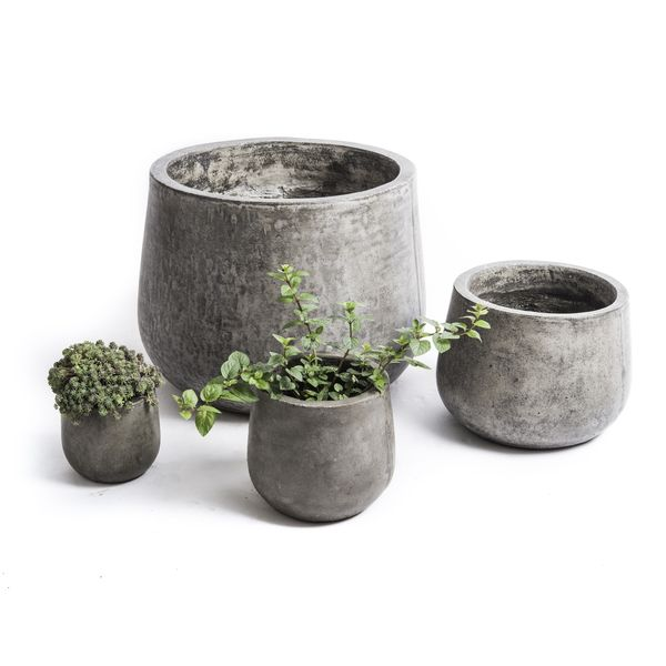 terrazza Ideas disegno : This beautiful pod-shaped planter is cast from cement and natural ...