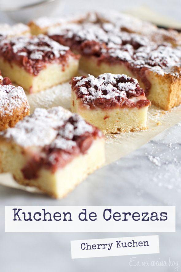 Kuchen de cerezas fácil, receta chilena - En Mi Cocina Hoy