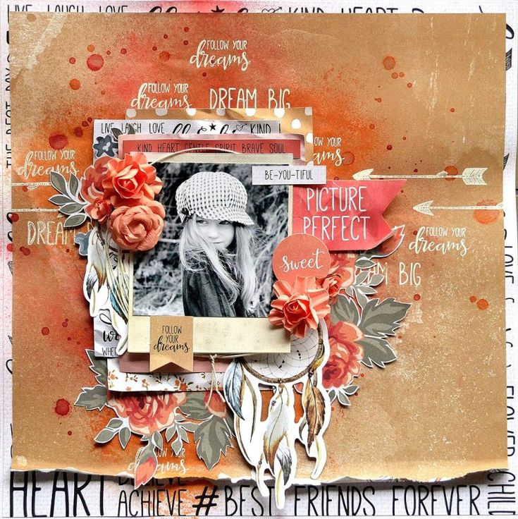 Picture Perfect scrapbook layout by Belinda Spencer