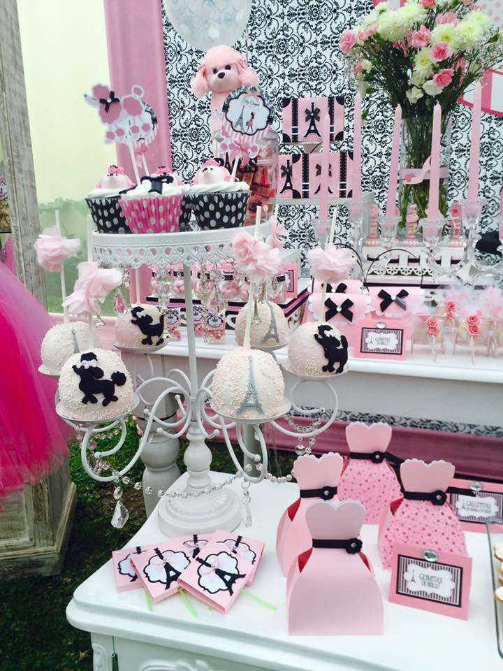 Amazing poodle treats at a Paris birthday party! See more party ideas at CatchMyParty.com!
