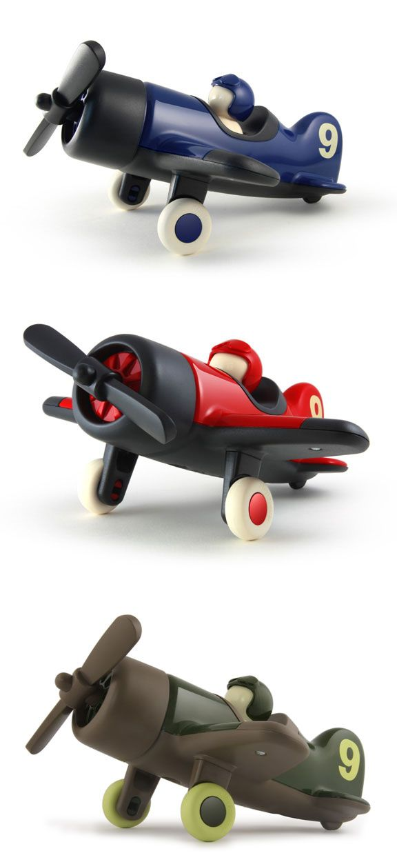 """Mimmo Aeroplane by Julian Meagher for Playforever: Timeless and virtually indestructible. Made in the UK. Measures 11 x 10 x 6""""."""