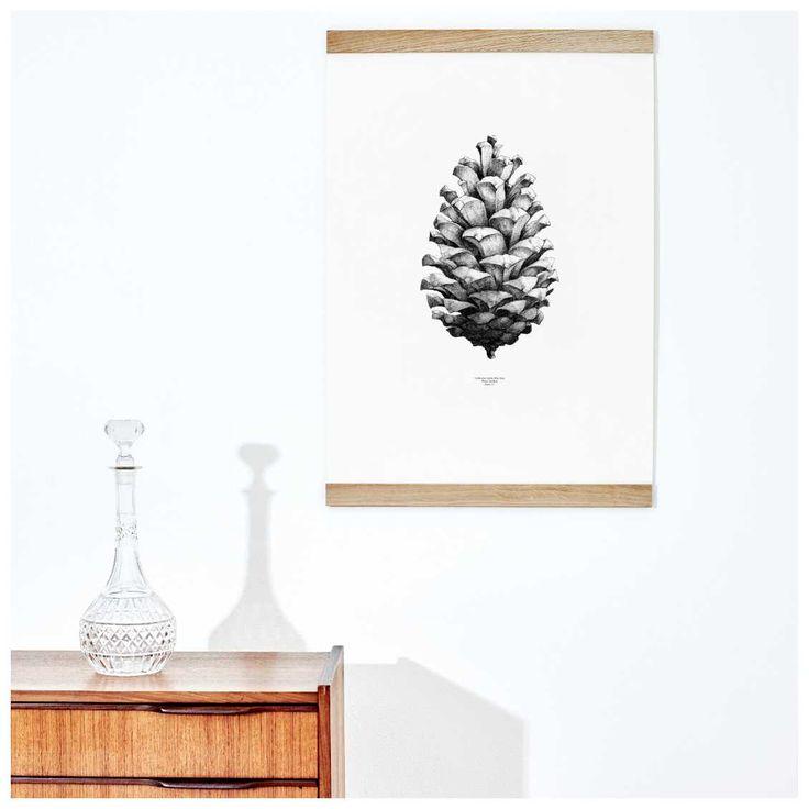 De #White #Pine Poster van #PaperCollective is een ontwerp van het Zweedse Form Us With Love. Met deze print, die in verschillende kleuren leverbaar is, hadden de ontwerpers de ambitie om kunst te combineren met boeiende en intrigerende feiten. De prenten verbeelden sommige extreme objecten van de natuur; 's werelds grootste #dennenappel, een hagelsteen ter grootte van een voetbal en wie weet wat we nog meer van dit Award-winnende designlabel kunnen verwachten. Op voorraad bij #MisterDesign