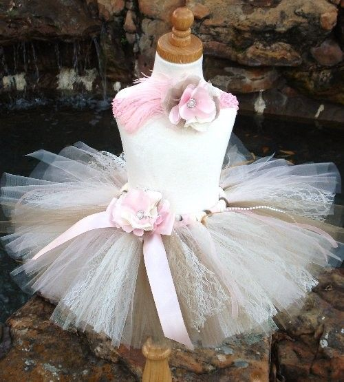 Pearls and LaceShabby Chic Tutu with matching by tutuglamourous, $69.95