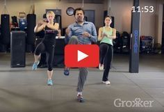 This one will put a smile on your face. http://greatist.com/move/kickboxing-workout-thats-actually-fun