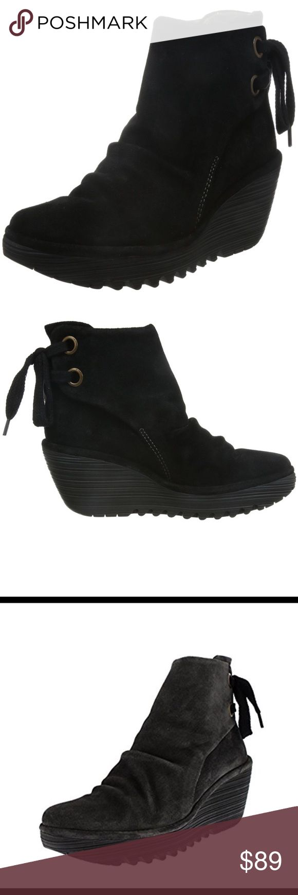 Fly London booties. - suede, black color. Fly London booties. - suede, black color. Fly London Shoes Ankle Boots & Booties