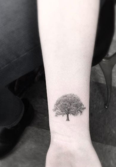 Tree Tattoo by Doctor Woo
