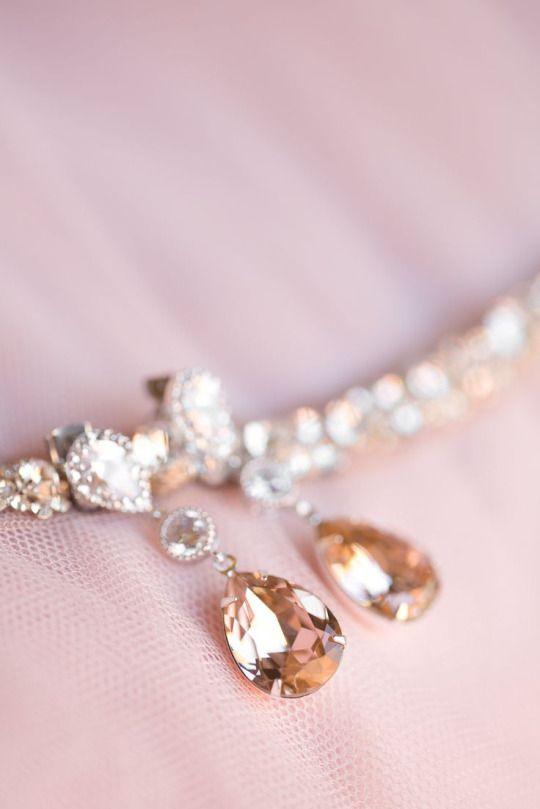 Blush pink diamond earrings